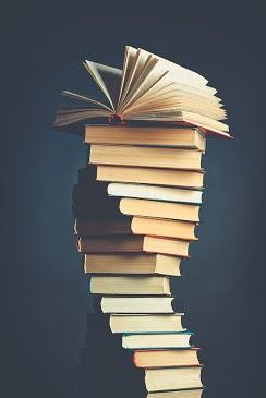 Stack books in a spiral.